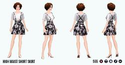 ReturnOfTheWaist - High Waist Short Skirt
