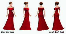 GirlInRedClothing - Royal Ruby Gown