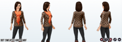 JumpIntoFall - Dot Sweater and Scarf