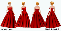 GirlInRedClothing - Satin Ball Gown