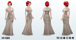 HollywoodGlamour - Coy Gown