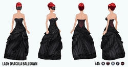 MonsterBash - Lady Dracula Ballgown