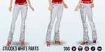 CanadaDay - Studded White Pants