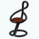 NewYorkMusicFestival - Treble Clef Chair