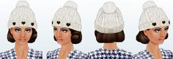 Ice Skating Hat -Hair-