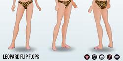 Beach - Leopard Flip Flops