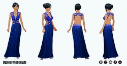 SpringRunway - Indigo Web Gown