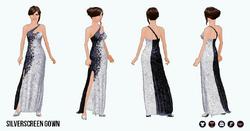 BlackAndWhite - Silverscreen Gown