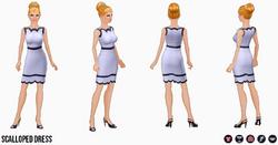 WinterWhite2014 - Scalloped Dress
