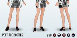 FashionWeekSpin - Peep Toe Booties
