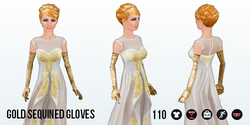 Homecoming - Gold Sequined Gloves