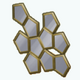 HoneyWeekend - Honey Comb Mirror