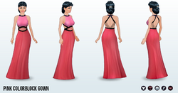 ColorblockSpin - Pink Colorblock Gown