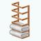 ModernNordicBathroomDecor - Towel Teak Shelves