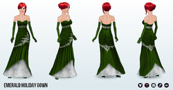 ChristmasCheer - Emerald Holiday Gown