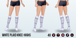 HartAndGray - White Plaid Knee-Highs