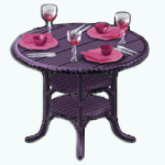TheVault - Passionate Pink Patio Table