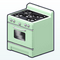 MintGreenDecor - Mint Retro Oven
