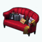 HollyDaysSpin - High Back Red Couch
