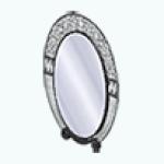 MetallicArtDecoSpin - Elegant Oval Mirror