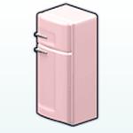 ValentinesDayDecor - Pink Retro Fridge