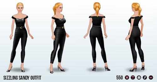 SummerMovieNightSpin - Sizzling Sandy Outfit