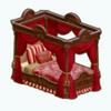 RoseDecor - Velvet Canopy Bed
