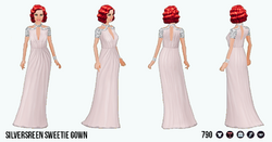 HollywoodGlamour - Silverscreen Sweetie Gown