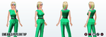 StPatricksDay - Emerald Peplum Top