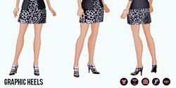 BlackAndWhite - Graphic Heels