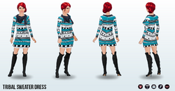 CafeRaffle - Tribal Sweater Dress