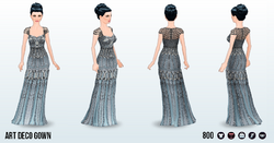 MetallicArtDecoSpin - Art Deco Gown