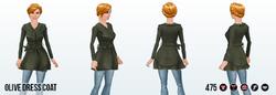 PumpkinSpiceSpin - Olive Dress Coat