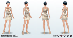 MetallicArtDecoSpin - Mini Art Deco Dress