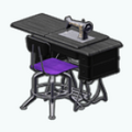 Decor - Gothic Sewing Machine