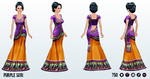Diwali - Purple Sari