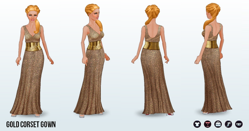AwardsNight - Gold Corset Gown
