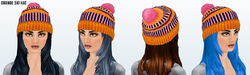 KissKissBangs - Orange Ski Hat