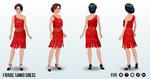TangoLesson - Fringe Tango Dress