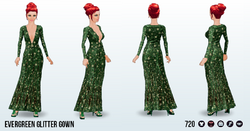 YuleBall - Evergreen Glitter Gown