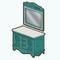 NocheCalienteDecor - Blue Dresser