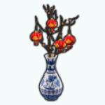 LuckyChineseNewYear - Golden Luck Lanterns Vase