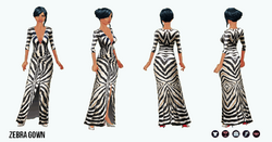 Pet - Zebra Gown