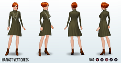 FriendsgivingSpin - Haricot Vert Dress