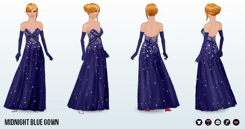 BlackFriday - Midnight Blue Gown