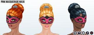 FabulousLasVegas - Pink Masquerade Mask