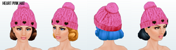ValentinesDaySpreeSpin - Heart Pink Hat