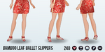 LuckyChineseNewYear - Bamboo Leaf Ballet Slippers