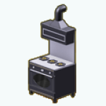CookingCompetition - Modern Black and White Stove