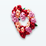 ValentinesDaySpreeSpin - Rose Heart Wreath